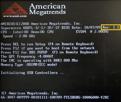 AMI BIOS screenshot